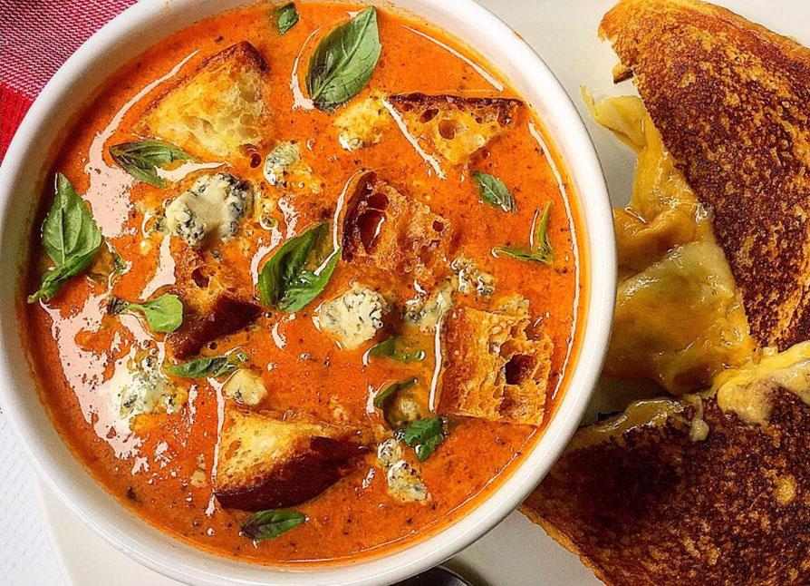 Tomato Blue Cheese Soup