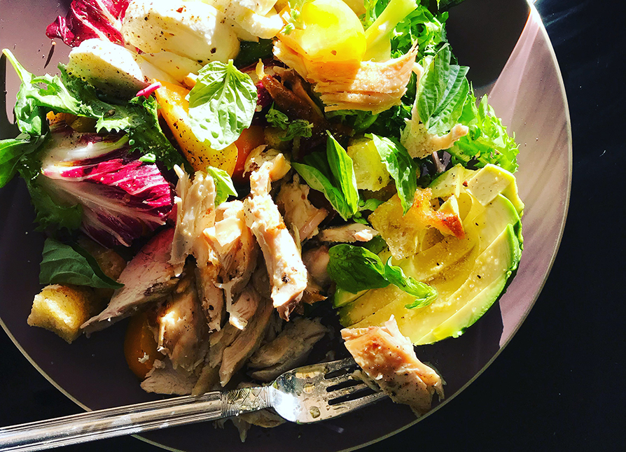 Roasted Chicken and Avocado Salad
