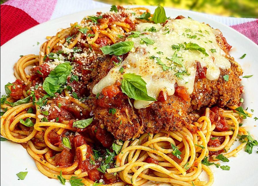 Chicken Parmesan with Spicy Marinara