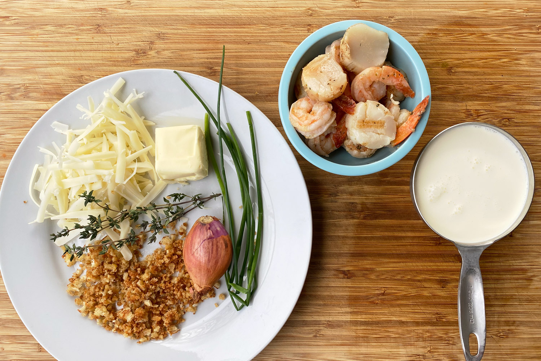 Scallop and Shrimp Gratin