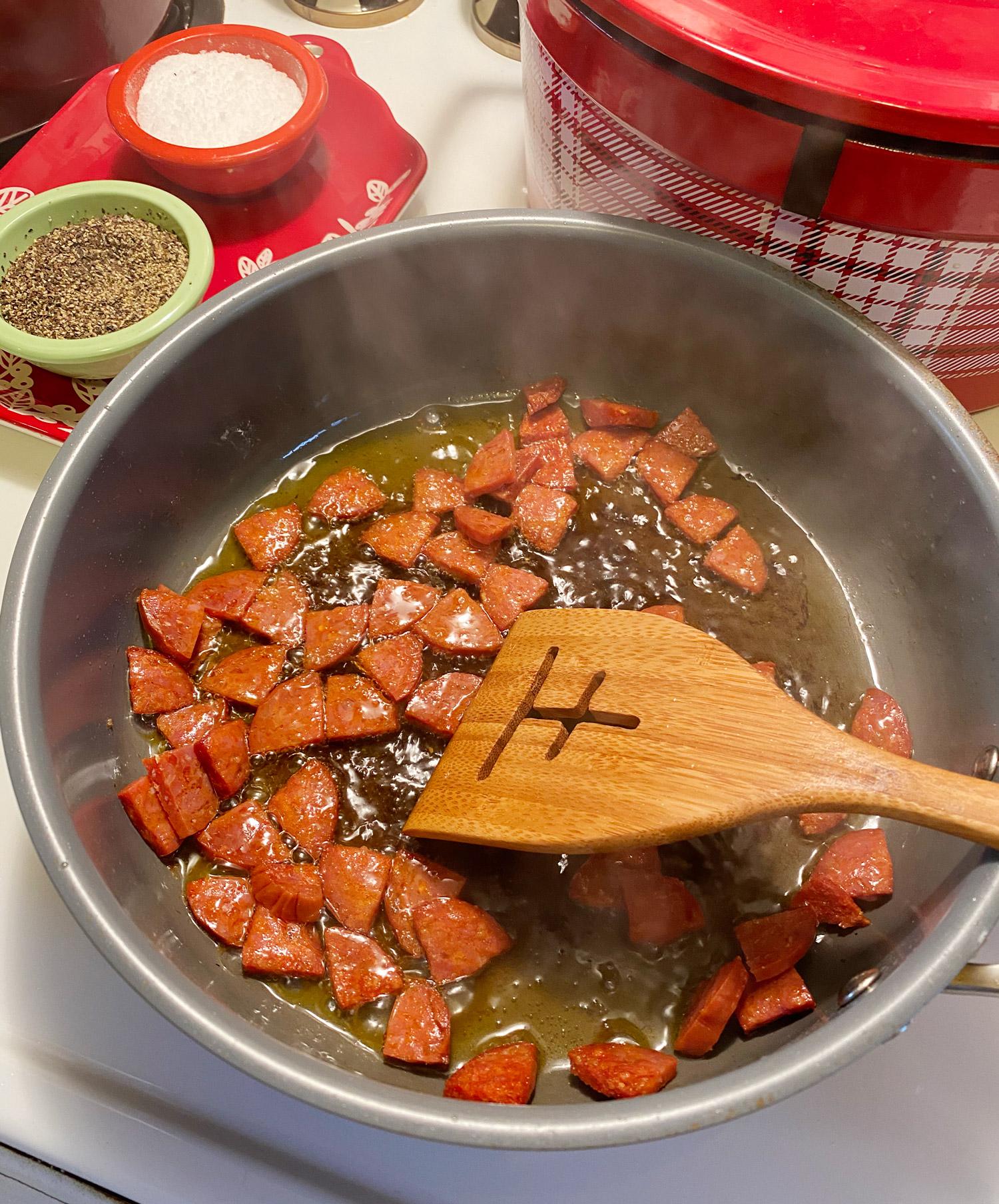 Garlicky Shrimp and Chorizo