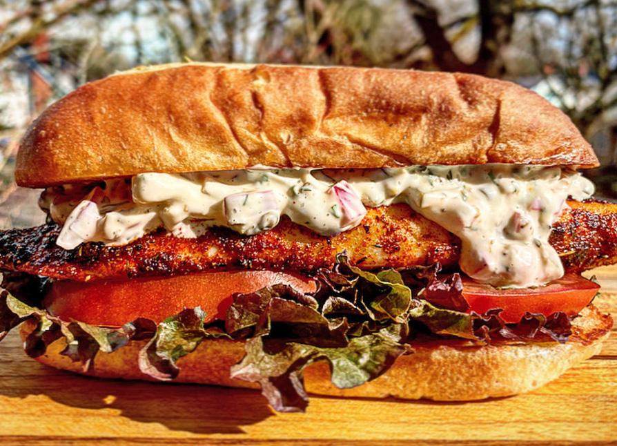 Blackened Tilapia Sandwich